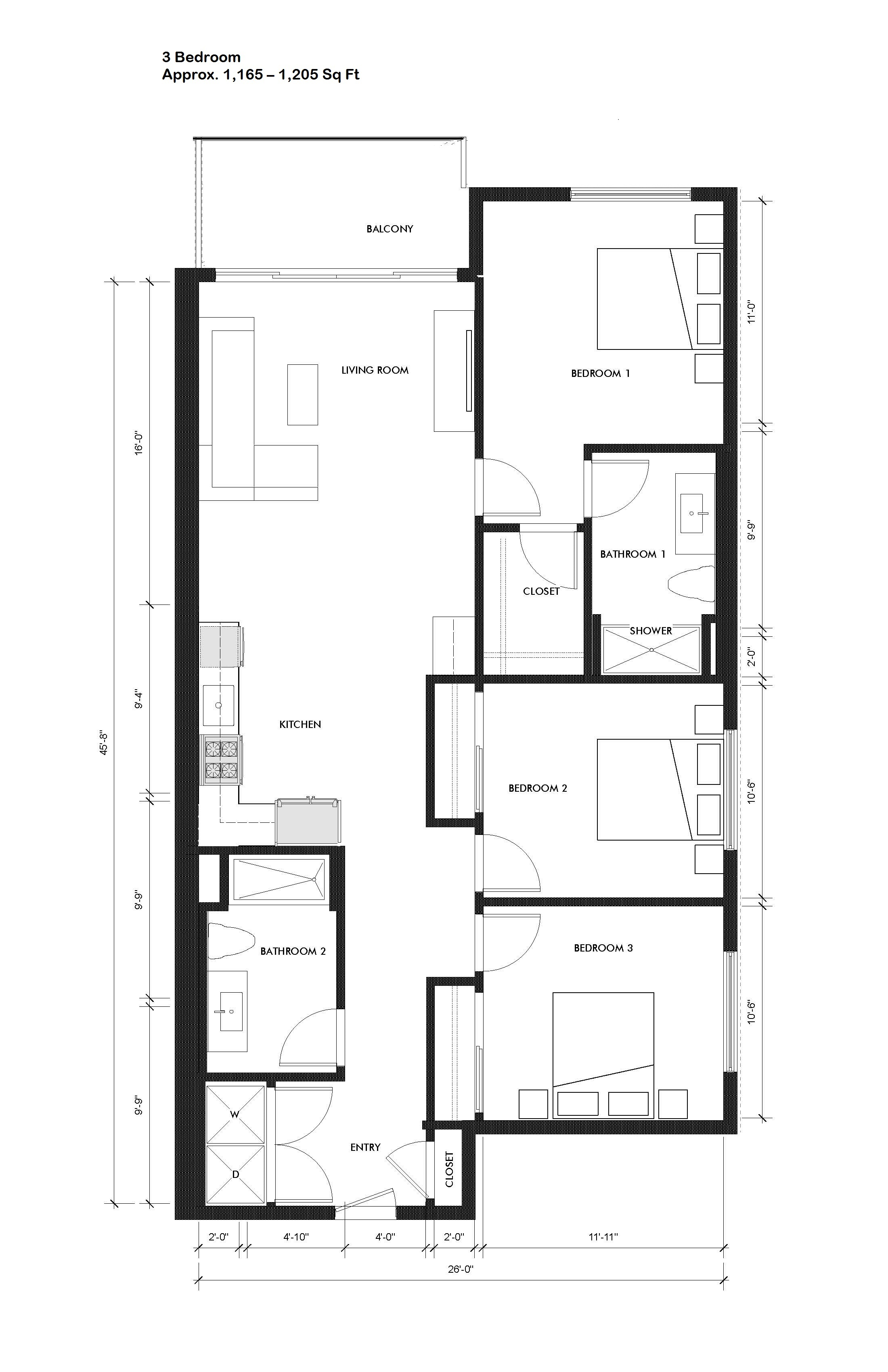 Courtleigh   unit 201 three bedroom